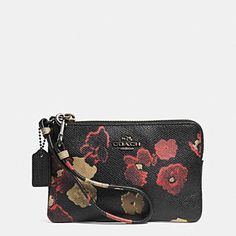 SMALL WRISTLET IN FLORAL PRINT LEATHER Discount Coach Bags a53f8db19c64e