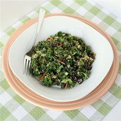 Kale Salad with Lemon Tamari Dressing and Quinoa (vegan AND gluten-free!)