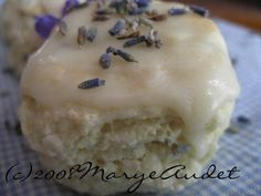 These mini lavender and vanilla scones make a perfect breakfast treat. Buttery and slightly sweet with a delicate citrus flavor and aroma.