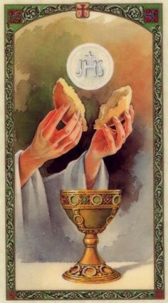 The Beautiful Hands of a Priest Catholic Prayer Holy Card, God Keep & Bless Them