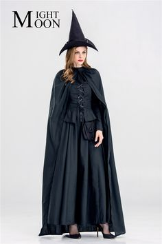 MOONIGHT 2017 New Black Witch Costumes Party Adult Magic Moment Cosplay Halloween Costumes for Women Witch Role Playing Witch Costumes Witch Costumes, Holiday Costumes, Halloween Costumes, Halloween 2019, Costumes For Women, Cosplay, Magic, In This Moment, Party