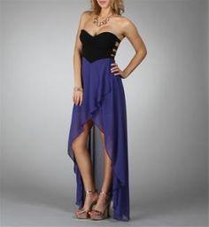 Blue Strapless Dresses