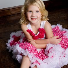 Raspberry Dot Pettiskirt from PoshTots