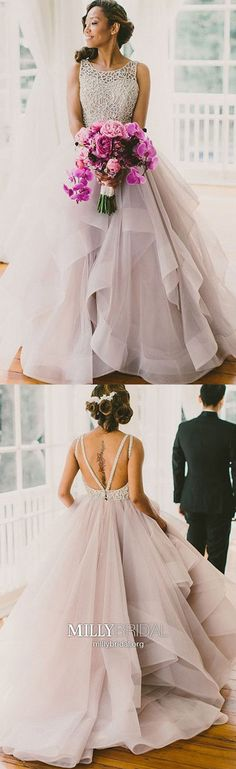 Long Prom Dresses,Ball Gown Prom Dresses Sparkly,Elegant Prom Dresses Backless,Modest Prom Dresses Ruffled