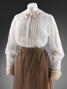 Edwardian blouse and skirt.