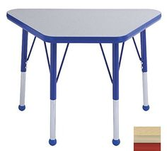 Early Childhood Resource ELR14118MMRDSB 18 in x 30 in Maple Adjustable Learning Table with Maple Edge and Red Standard Leg Ball Glides >>> Read more reviews of the product by visiting the link on the image.