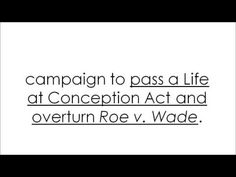 """Sign Petition: Pass the """"Life at Conception Act"""""""