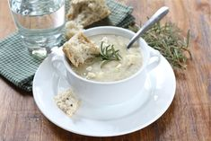 Potato Rosemary Soup. I think I need to make this for the weekend with fresh bread from Uppercrust.
