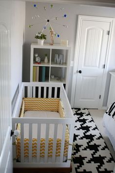 Cute nursery/guest room (there's a bed on the other side of the room)
