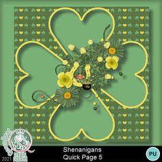 Digital Scrapbooking Kits   Shenanigans QP 5-(QueenBr)   Celebrations, Holidays, Holidays - Saint Patricks   MyMemories