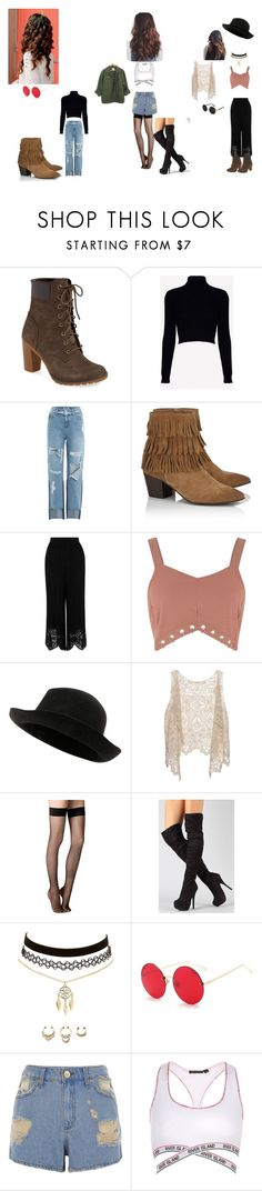 """possibly 90's inspired"" by unicorn-768 on Polyvore featuring Timberland, Jack Wills, SJYP, Lipsy, River Island, Chanel, Fogal and Charlotte Russe"