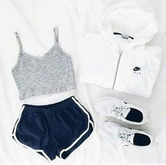 Image result for shorts sport top outfit