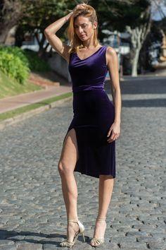 Soft velvet & dark purple. More tango dresses on our online shop www.malvontango.com 🌹 Tango Dress, Dark Purple, Cool Designs, Feminine, Velvet, Elegant, Skirts, Clothes, Collection
