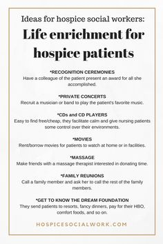 Because hospice social workers care about fun and meaningful experiences continuing for as long as patients want them to.