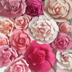 Paper Flower Backdrop, Paper Flower Wall - giant paper flowers | ashandcrafts.com