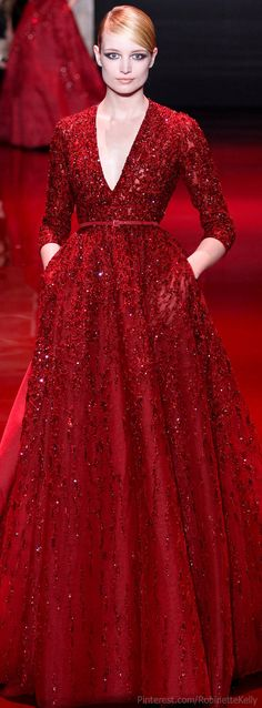 ideas for dress red haute couture ellie saab ideas for dress red haute couture ellie saab Style Haute Couture, Couture Fashion, Gowns Couture, Beautiful Gowns, Beautiful Outfits, Stunning Dresses, Elegant Dresses, Pretty Dresses, Red Fashion