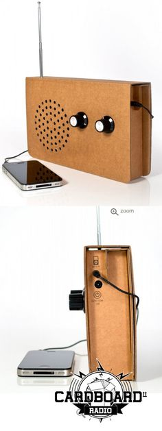 Card radio,with iPod outlet.  Genius.  Retro cool and only $70.