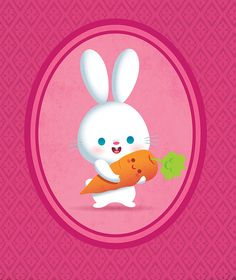 Kawaii Bunny and Carrot