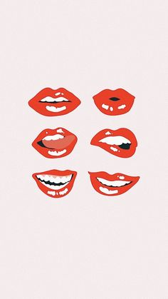 Lips art _ lippen kunst _ art des lèvres _ arte d Collage Mural, Bedroom Wall Collage, Photo Wall Collage, Wall Art Collages, Photo Canvas, College Wall Art, College Walls, Dorm Walls, Aesthetic Collage