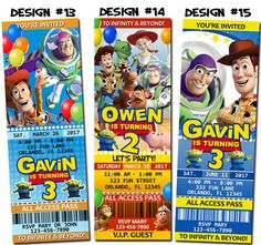 Items similar to Toy Story Birthday Party Ticket Invitations ...
