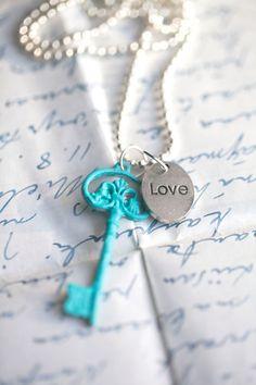 Turquoise Key necklace