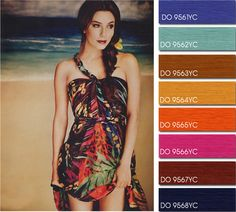 Spring Summer 2014, contemporary women's color trend report, sunset beach color board