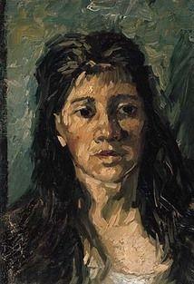 "Vincent van Gogh ""Head of a Prostitute"" 1885 -- Van Gogh Museum, Amsterdam."
