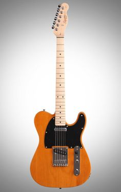 Squier Affinity Telecaster Special: Designed for beginners, this Squier Telecaster features two single-coil pickups and a 21-fret Maple neck and comes in a Butterscotch finish.