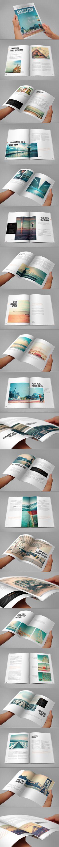 Minimal Magazine. Download here: http://graphicriver.net/item/minimal-magazine/6680861?ref=abradesign #design #magazine