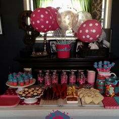 Pink & blue spa party!!!