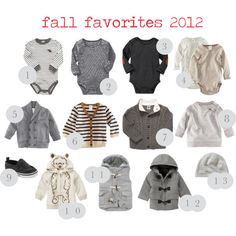 baby boy style: fall favorites Notice the color...or lack there of
