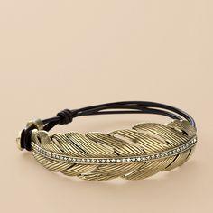fossil -feather bracelet