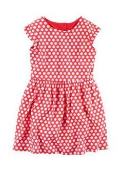 Carters Red Polka Dot Heart Dress Toddler Girls