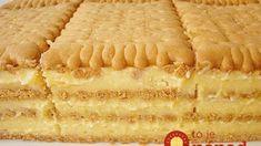 Petit keks torta ~ Recepti i Ideje Croatian Recipes, Hungarian Recipes, Baking Recipes, Cookie Recipes, Dessert Recipes, No Bake Cake, No Bake Cookies, Posne Torte, Croatian Cuisine