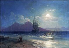 View of the sea at night - Ivan Aivazovsky, 1873