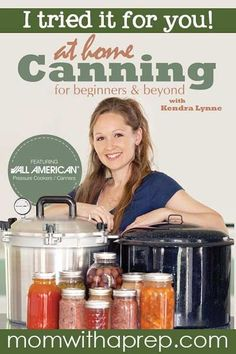 Learn to Can at home with this awesome DVD from Kendra Lynne of New Life on a Homestead. I tried it out for you - and here's my review     Mom with a Prep