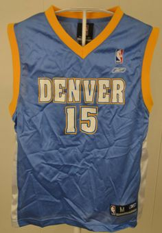 fed7a11bc Details about DENVER NUGGETS NBA   15 CARMELO ANTHONY JERSEY BY REEBOK  YOUTH MEDIUM 10   12