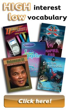 High interest and low vocabulary  leveled readers for early reading and struggling learners.  Some of the topics include a biography series that's of interest for history and Underwater Encounters for science.