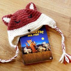 Renard, chenapan , bonnet renard, knitting fox