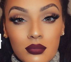 Flawless love the eyelashes and lipstick