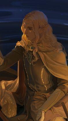 Finrod and Turgon travel around Middle-earth by Lairelossë Tolkien, Silmarillion Fantasy Character Design, Character Concept, Character Art, Concept Art, Dnd Characters, Fantasy Characters, Female Characters, Hobbit, Fantasy Inspiration