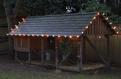 rabbit hutch / run / cage   chicken coop. Put tin roof instead!!