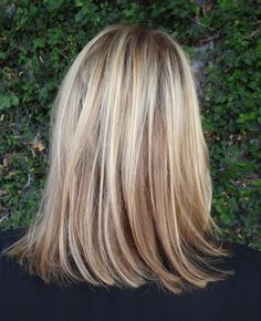 Blonde shoulder length highlights (brassiness corrected) - Sarah Conner (stylist's blog)