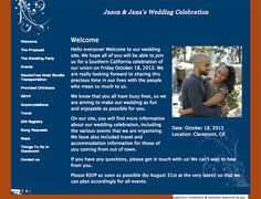 Glosite wedding websites, integrated with RSVP management and invitations.