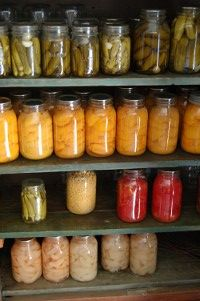 Home Canned Food~boiling water bath method