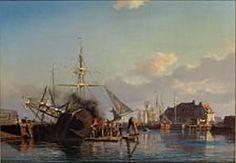 Carl Neumann From The Port of Copenhagen. Copenhagen, Painters, Sailing Ships, Danish, Denmark, Norway, Scandinavian, Coasters, Past