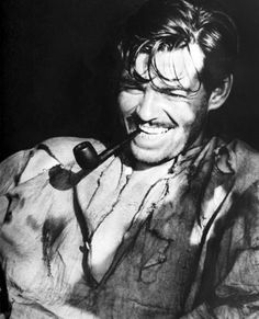 Clark Gable on the set of STRANGE CARGO, 1940.