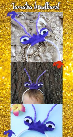Tamatoa Moana headband! Perfect for a Moana themed birthday party or Halloween. @DashingAndDainty on Etsy.
