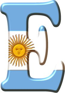 Alfabeto con la Bandera de Argentina. English Letter, Argentina Travel, Letter E, Alphabet And Numbers, Classroom Decor, South America, Emoji, Symbols, Education