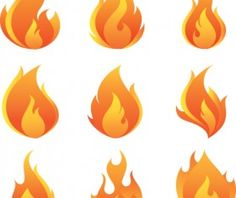 Different Flames icons design vector 05